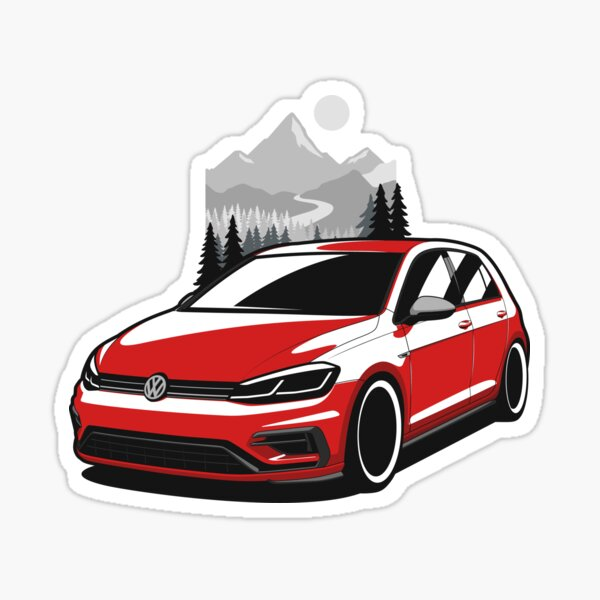 Golf rouge R Sticker