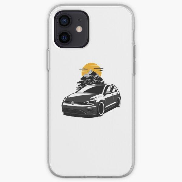 Golf negro R Funda blanda para iPhone