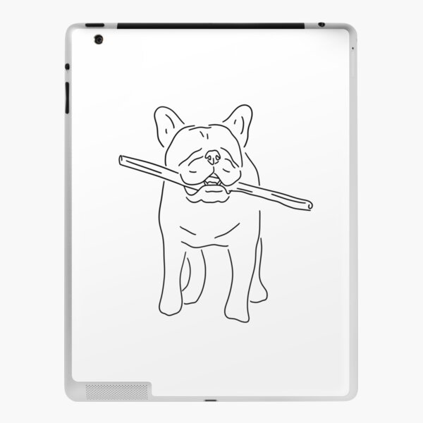 French Bulldog Walkies Art iPad Skin