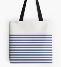 Faded Navy Stripes Tote Bag