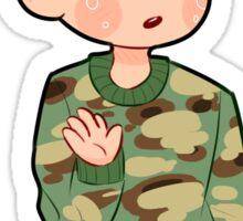 dan camo sweater Sticker