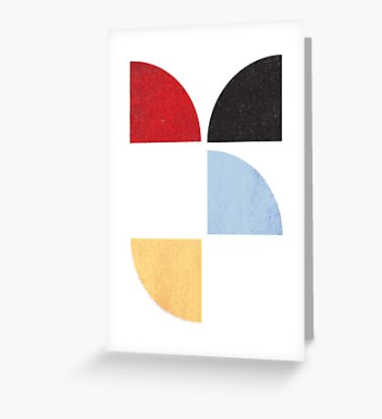Abstract Quarters Greeting Card