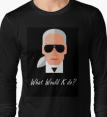 Karl Lagerfeld - WWKD - Black version Long Sleeve T-Shirt