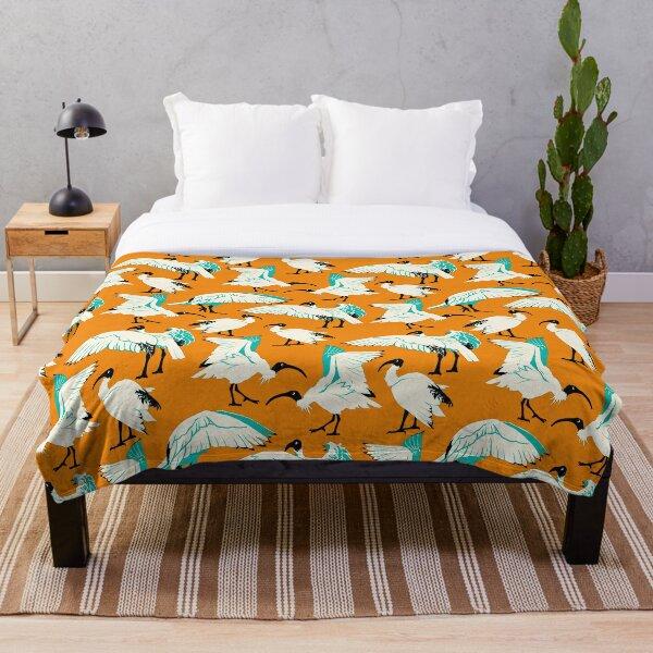 Ibis Buddies - Orange Throw Blanket