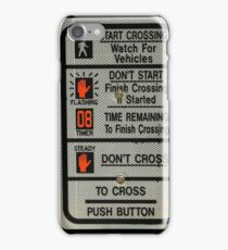 Crosswalk Instruction Sign iPhone Case/Skin