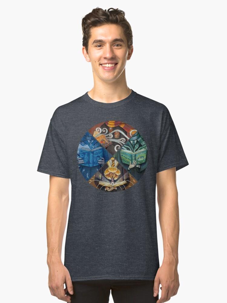 Books Magic Classic T-Shirt Front