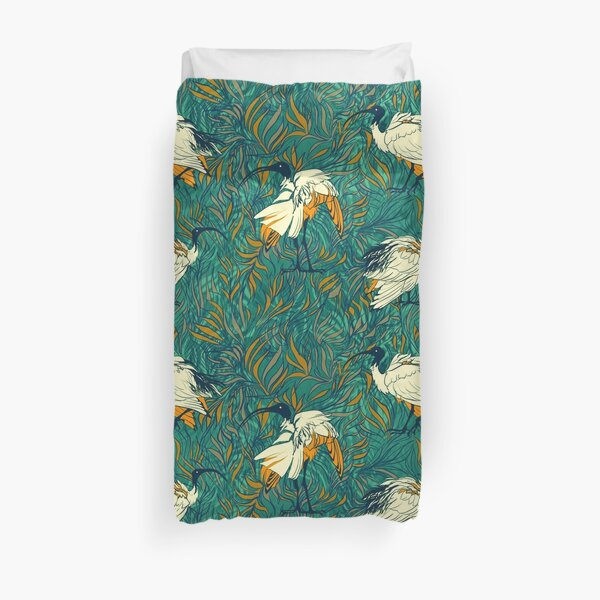 Summertime Ibis - Tropical Green Duvet Cover