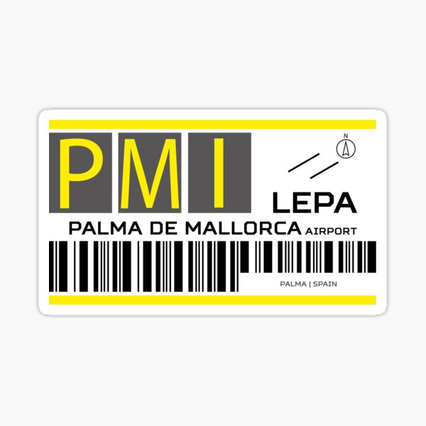 Destination Palma Airport Sticker