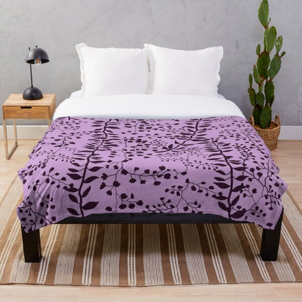 Bella Swan Lavender Freesia Throw Blanket