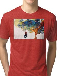 Colorful Landscape Art - The Dreaming Tree - By Sharon Cummings Tri-blend T-Shirt