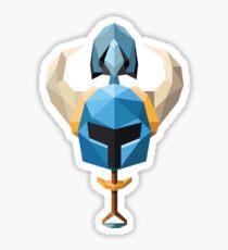 Low-Poly Shovel Knight Sticker