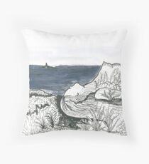 Woman landscape  Throw Pillow