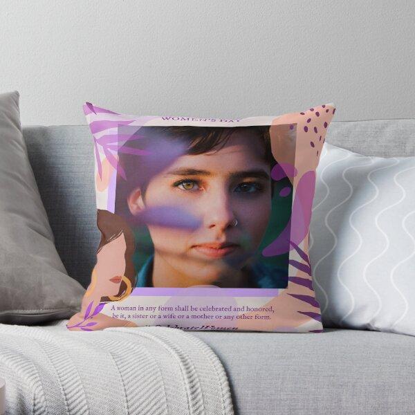 International Women's Day Purple Essence Throw Pillow