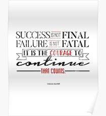 The Courage to Continue Poster
