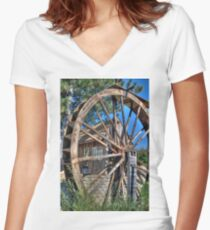 Water Mill Women's Fitted V-Neck T-Shirt