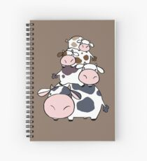 Cow Stack Spiral Notebook