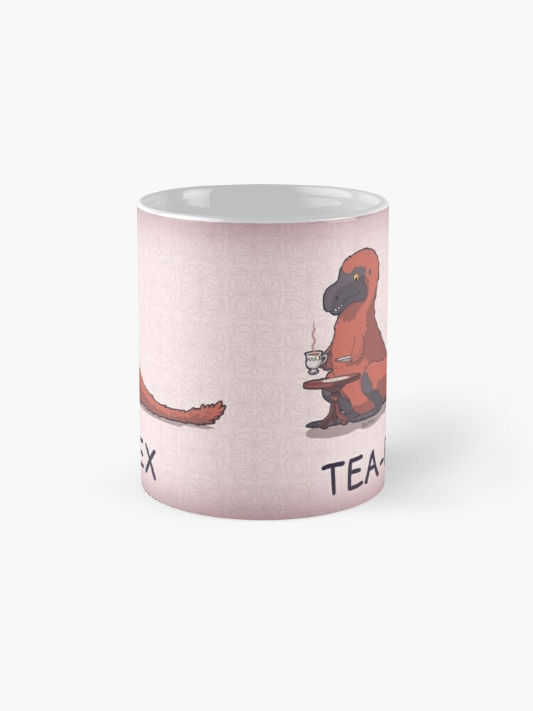 Alternate view of Fluffy Tea-Rex Mug