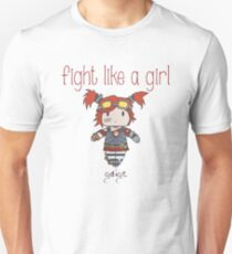 Fight Like a Girl | Robot Maker T-Shirt