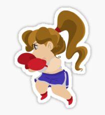 Cute Little Boxer Girl Sticker