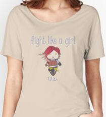 Fight Like a Girl | Fire Girl Women's Relaxed Fit T-Shirt