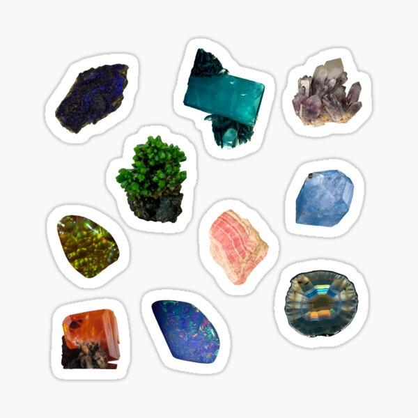 Ten Mini Gemstones   Gemstone and Mineral Collection   Vol. 2 Sticker