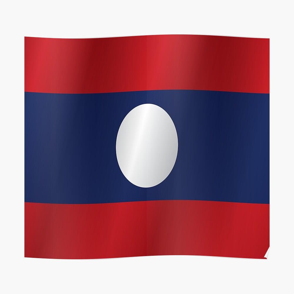 Laos Lightweight Flag Scarf