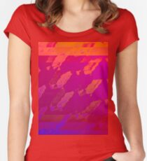 Fuchsia Abstract Women's Fitted Scoop T-Shirt