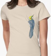 Normal Gray Cockatiel Women's Fitted T-Shirt
