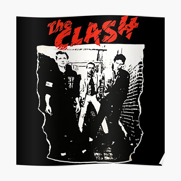 Camiseta The Clash Group Band Póster