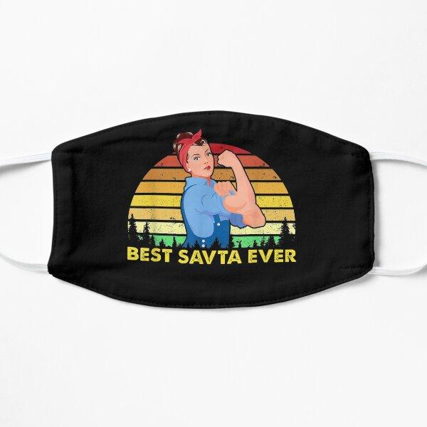 Vintage Retro Best Savta Ever Mother Day nice design Flat Mask