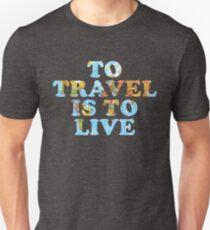 Reisen ist Leben Slim Fit T-Shirt