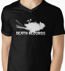 Death Records Label Men's V-Neck T-Shirt