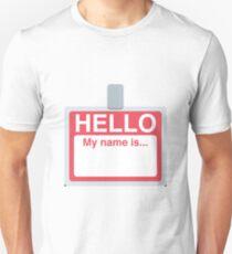 Name Badge Emoji Unisex T-Shirt