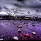 Storm Over Aberystwyth Wales by Wayne King