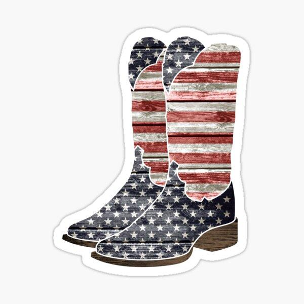 Patriotic Cowboy Boots Sticker