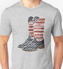 Patriotic Cowboy Boots Unisex T-Shirt