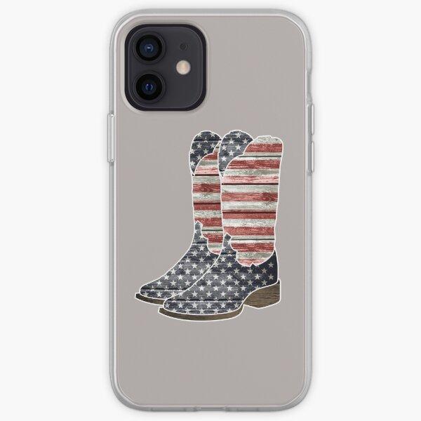 Patriotic Cowboy Boots iPhone Soft Case