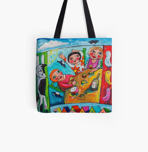 Girlfriends All Over Print Tote Bag