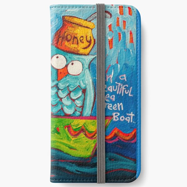 In a beautiful pea green boat iPhone Wallet