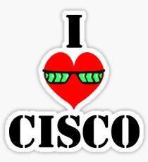 I Heart Cisco Sticker