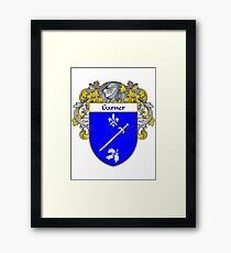 Garner Coat of Arms/Family Crest Framed Print