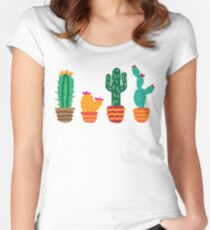 Cactus2 Women's Fitted Scoop T-Shirt