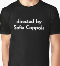 Directed by Sofia Coppola (white) Graphic T-Shirt