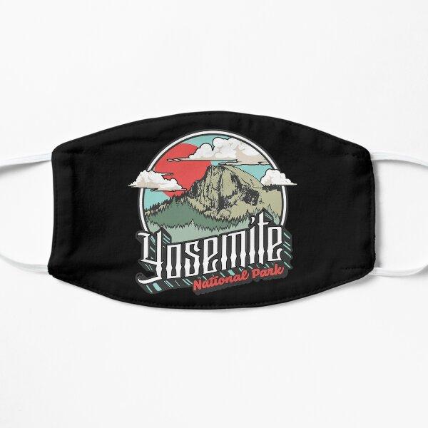 Vintage Yosemite ational Park Half Dome Mountain 80's nice design Flat Mask