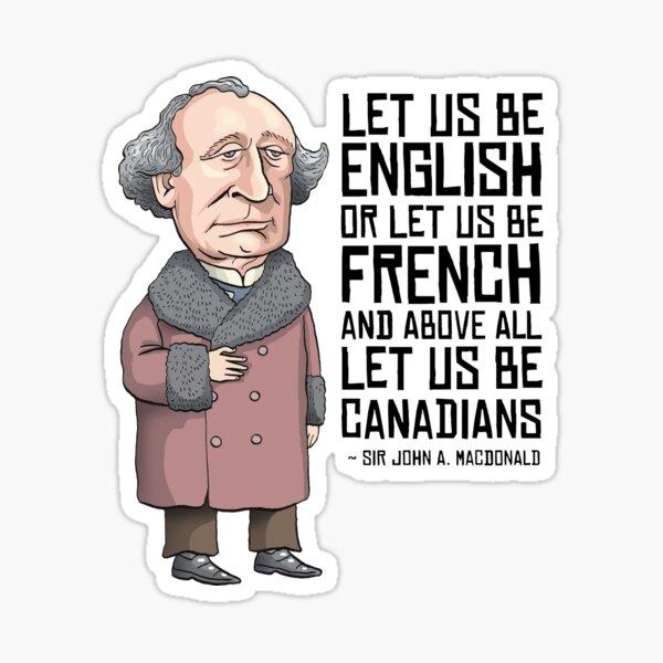 John A. Macdonald Sticker
