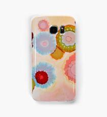 """Floating Blooms"" - Colorful Unique Original Artist's Floral Design! Samsung Galaxy Case/Skin"