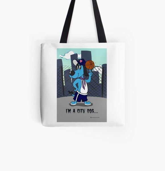 Cartoon Dog All Over Print Tote Bag