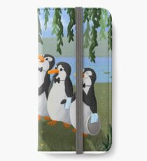Singing Practice - Penguins Mary Poppins iPhone Wallet/Case/Skin