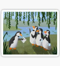 Singing Practice - Penguins Mary Poppins Sticker