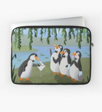 Singing Practice - Penguins Mary Poppins Laptop Sleeve